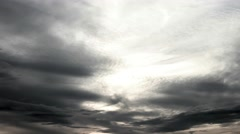 Moving clouds at nightfall - stock footage