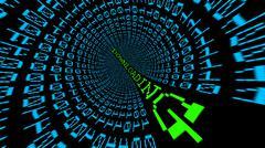 Downloading data tunnel Stock Illustration
