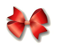 Stock Illustration of Red ribbon bow on white background