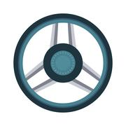 Car rudder wheel Stock Illustration