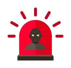 Thief alert vector illustration Piirros