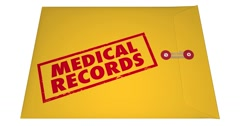 Medical Records Private Patient Documents Files Sensitive Information 4K - stock footage