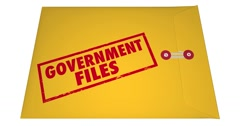 Government Files Records Sealed Classified Confidential Envelope Secrets 4K Stock Footage