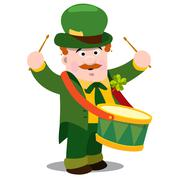 The man withdrum. St. Patrick s Day. Stock Illustration