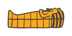Pharaoh sarcophagus vector - stock illustration