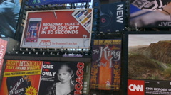 Billboards in Times Square, Midtown Manhattan, New York City - stock footage