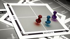 Risk vs Benefit Assessment - stock illustration
