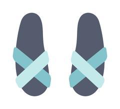 Beach sneakers summer travel lifestyle fashion shoes illustration - stock illustration