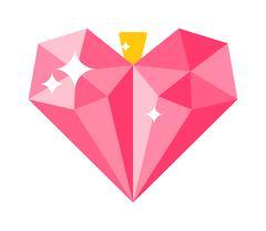 Love concept heart decoration vector illustration Stock Illustration