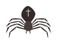 Spider illustration. Black Widow Stock Illustration