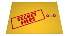 Stock Video Footage of Secret Confidential Classified Files Documents Stamped Envelope 4K