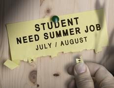 Summer Job, Seasonal Jobs Search Stock Illustration