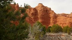 Panning desert shot of Kodachrome Basin State Park Utah Stock Footage