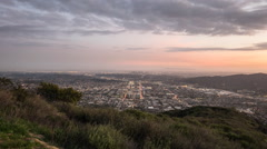 Glendale and Los Angeles Magic Hour with Zoom In Stock Footage
