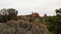 Panning shot of Kodachrome Basin State Park in Utah - stock footage
