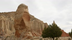 The chimney rock in Kodachrome Basin - stock footage