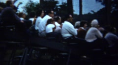 1961: Parental crowd watches little league baseball game. Stock Footage