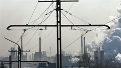 Pollution Air ,industry, Metallurgy,time Lapse - stock footage