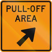 Road sign used in the US state of Virginia - Pull-Off area - stock illustration