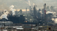 Pollution Air ,industry, Metallurgy,time Lapse Stock Footage