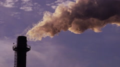 Industrial stack or smoke stack, Greenhouse Gas Emission Stock Footage