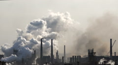 Pollution Air ,industry, Metallurgy Stock Footage