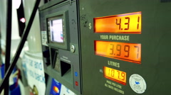 Rising gas prices on station pump scree with 4k resolution Stock Footage