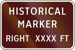 Road sign used in the US state of Virginia - Historical marker Stock Illustration
