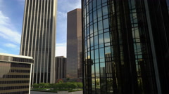 Los Angeles Cityscape from Ascending Elevator -Version 3- - stock footage