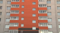 Multistoried modern and stylish apartment building. Stock Footage