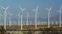 Renewable Energy Wind Turbines generating Power - stock footage