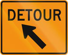 Stock Illustration of Road sign used in the US state of Virginia - Detour direction
