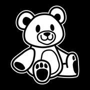Cute Teddy Bear vector icon - stock illustration