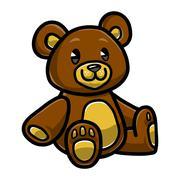 Cute Teddy Bear vector icon Stock Illustration