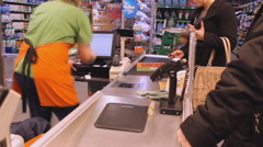The big supermarket cash register time lapse  Arkistovideo