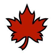 Maple Leaf Vector Icon Stock Illustration