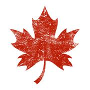 Stock Illustration of Maple Leaf Vector Icon