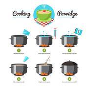 Instructions For Cooking Porridge - stock illustration