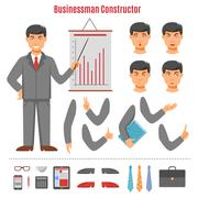 Businessman constructor set - stock illustration