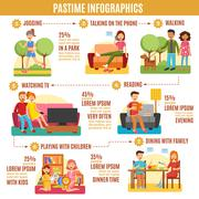 Pastime Infographics Diagram Stock Illustration