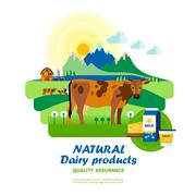 Natural Dairy Products Quality Assurance Stock Illustration