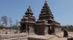 Ancient temple of Mahabalipuram Stock Footage