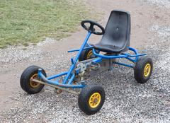 Dirty old go-kart Stock Photos