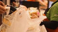 Supermarket cash register Arkistovideo