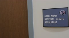 Utah Army National Guard Sign. Stock Footage