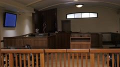 Lights Going On In A Courtroom Stock Footage