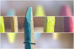 Isolated fence post with background Stock Photos