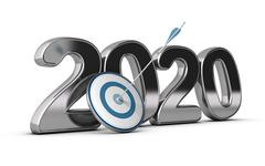 2020 Long or Mid Term Goal Stock Illustration