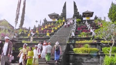 The main entrance of the Besakih Temple,Bali Stock Footage