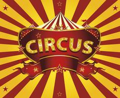 Sunbeams circus card - stock illustration